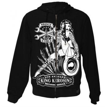King Kerosin Standard Hoodiejacket - Wrench Girl / Shj-WRG