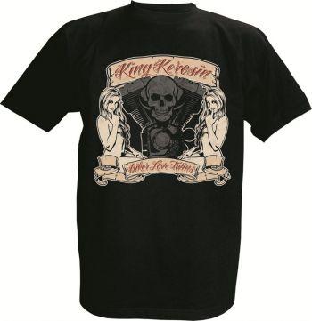King Kerosin T-Shirt - Biker Love Twins