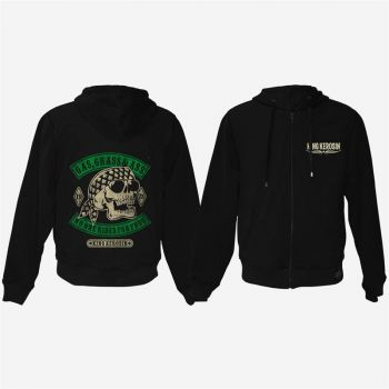 King Kerosin Bestickte Hoodie Jackets - Gass, Grass & Ass - Limited Edition