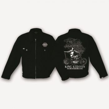 King Kerosin Workerjacket schwarz - Old Motorcyle Shop