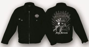 King Kerosin Workerjacket schwarz - Hot Rod Baby