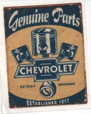 Vintage Race Sticker - Genuine Chevrolet Parts