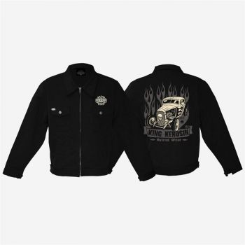 King Kerosin *Gestickte* Workerjacket - Hotrod Wear /  Limited Edition