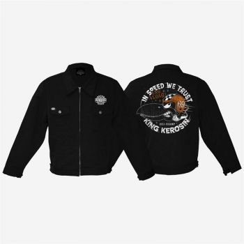 King Kerosin *Gestickte* Workerjacket - In Speed we Trust / Limited Edition