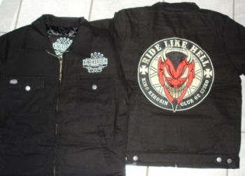 King Kerosin *Gestickte* Workerjacket - Ride like Hell / Limited Edition