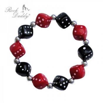 Rock Daddy Bracelets / Bracelet Dice in black/red