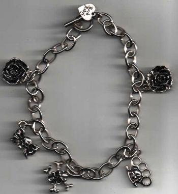Rock Rebel Bracelets / Rose-Knukles-Skulls