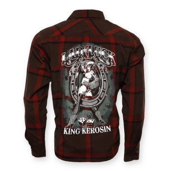 KING KEROSIN Langarm-Holzfäller Shirt-LYL / Lady Luck