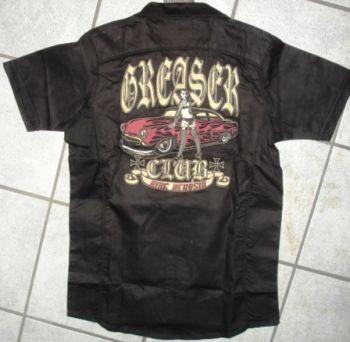 KING KEROSIN BESTICKTE RETRO Shirt / Greaser Club