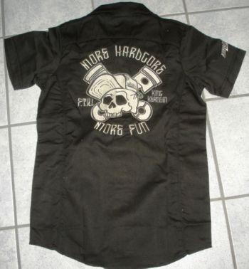 KING KEROSIN BESTICKTE RETRO Shirt / More Hardcore, More Fun