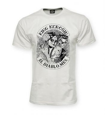 King Kerosin Regular T-Shirt white / El Diablo