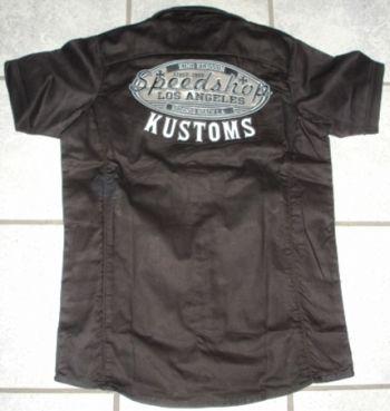 KING KEROSIN BESTICKTE RETRO Shirt / Speed Shop Kustom