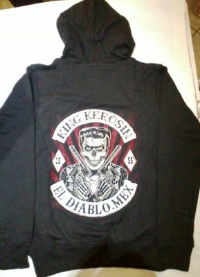 King Kerosin Bestickte Hoodie Jackets - El Diablo Mex. - Limited Edition