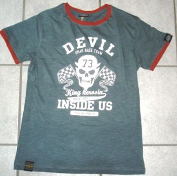 King Kerosin Slub Jersey T-Shirt - Drag Race Team / Devil Inside Us