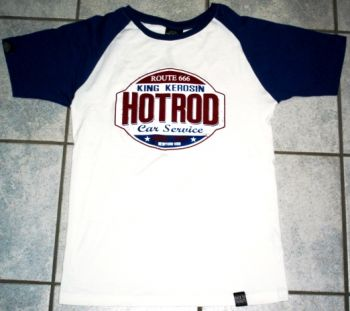 King Kerosin Raglan T-Shirt RT4-HCS / Hot Rod Car Service
