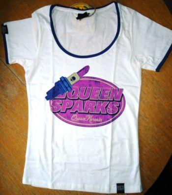 Queen Kerosin Girls Contrast T-Shirt - Queen Sparks / weiss