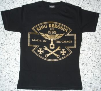 King Kerosin Slimfit T-Shirt-Made In The Garage/metallic bronze