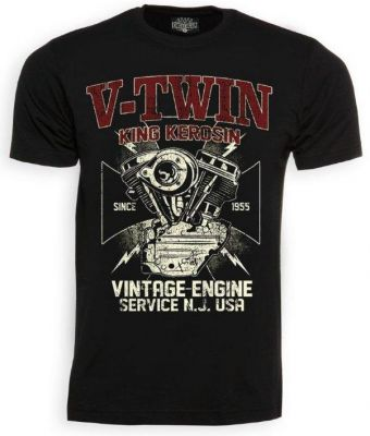 King Kerosin T-Shirt - V.Twin Engine Service