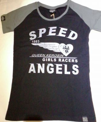 Queen Kerosin Girls Raglan T-Shirt RTG-QGA / Speed Angel
