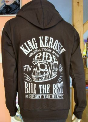 Zip-Hoodie Gestickte von King Kerosin - Ride the Best