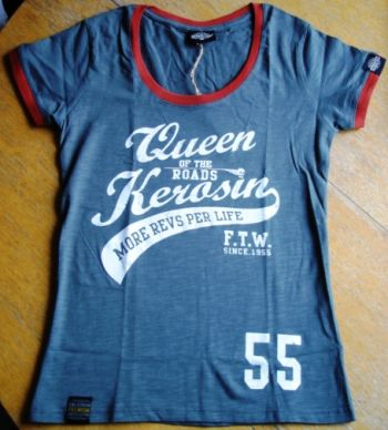 Queen Kerosin Limited Slub Jersey T-Shirt Tjg5-Q55