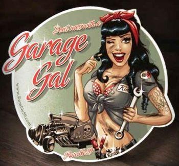 Rumble 59 Sticker  - Garage Girl