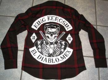 KING KEROSIN Langarm-Holzfäller Shirt-EDX / El Diablo Mex.