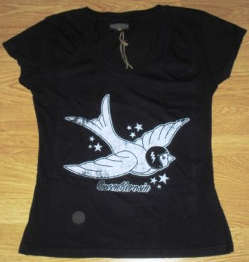 Queen Kerosin Girls T-Shirt Tg-Swallow Vintage