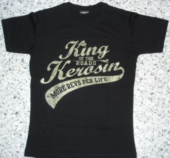 King Kerosin Slimfit T-Shirt / More Revs Per Life-metallic green