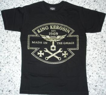 King Kerosin Slimfit T-Shirt-Made In The Garage/metallic green