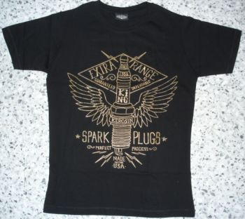 King Kerosin Slimfit T-Shirt - Spark Plugs / metallic bronze