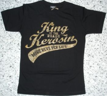 King Kerosin Slimfit T-Shirt /More Revs Per Life-metallic bronze