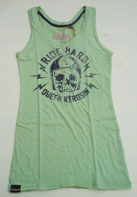 Vintage Button Tanktop von Queen Kerosin-Ride Hard jade green