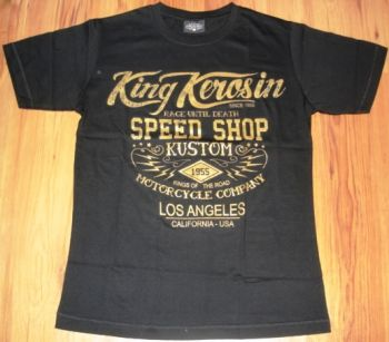 King Kerosin Slimfit T-Shirt - Race Until Death /metallic bronze