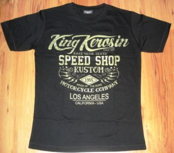 King Kerosin Slimfit T-Shirt - Race Until Death /metallic green