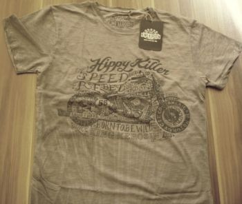 King Kerosin Batik Vintage Shirt - Hippy Killer / grau