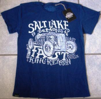 King Kerosin Batik Vintage Shirt - Salt Lake Demons / blau