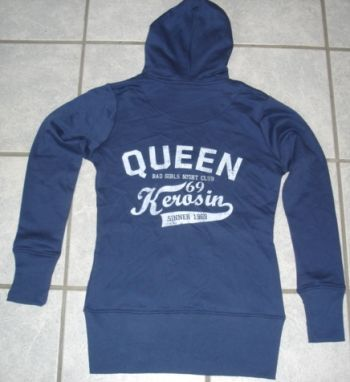 Sweatjacket Bad Girls Night Club von Queen Kerosin / blue