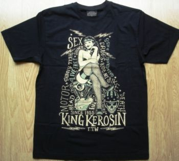 King Kerosin Regular T-Shirt / Sexy Motor Girl