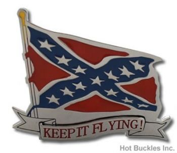 Buckle - Confederate Keep it Flying Flag