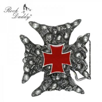 Buckle B-Skull and red Cross