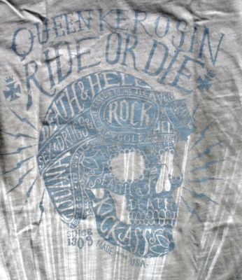 Queen Kerosin Batik Vintage Shirt / Ride or Die - grau