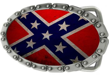 Buckle B-Coneterate Flag Chain Belt Buckle