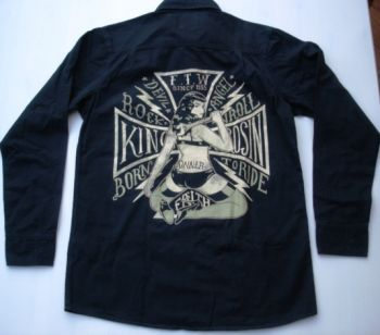 King Kerosin Lang Arm Worker Shirt - Born to Ride