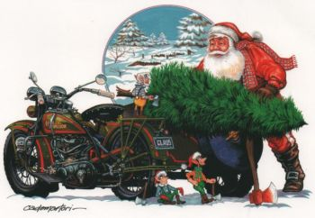 X-Mas Cards Motorcycle  X - 278