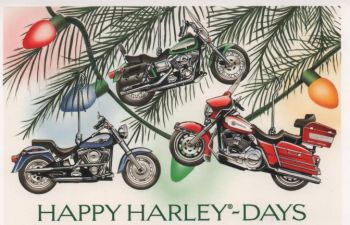 X-Mas Cards Motorcycle  X - 433
