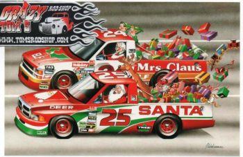X-Mas Cards Race Cars  X - 397