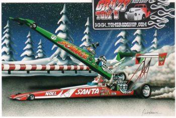 X-Mas Cards Race Cars  X - 241