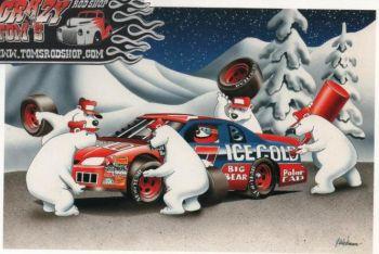 X-Mas Cards Race Cars  X - 386