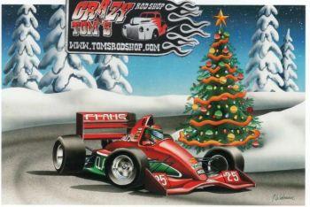 X-Mas Cards Race Cars  X - 378